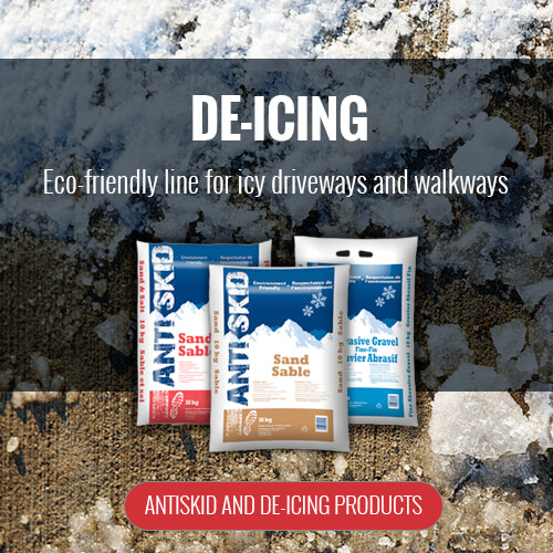 Antiskid and de-icing products