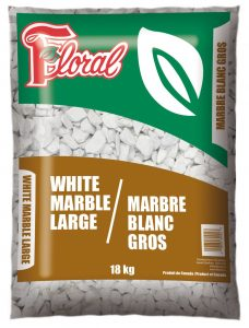 Marbre blanc gros - Floral