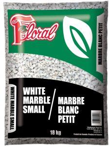 Marbre blanc petit - Floral